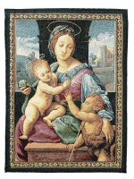 """Arazzo sacro """"Madonna Aldobrandini"""" - dimensioni 65x53 cm - Raffaello Sanzio"""
