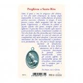 """Immagine di 'Card """"Santa Rita"""" con preghiera e medaglia - (10 pezzi)'"""