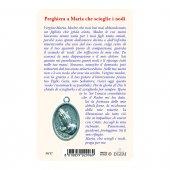 """Immagine di 'Card """"Maria che scioglie i nodi"""" con preghiera e medaglia - (10 pezzi)'"""