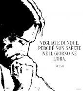 """Immagine di 'Zaino con coulisse - Mt 25,13 """"Vegliate dunque""""'"""