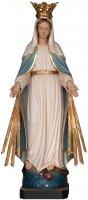 """Statua in legno """"Madonna delle Grazie con raggi e corona"""" - altezza 24 cm"""