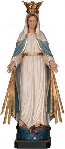 """Copertina di 'Statua in legno """"Madonna delle Grazie con raggi e corona"""" - altezza 24 cm'"""
