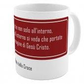 "SpiriTazza ""L'immagine di Gesù Cristo"" (San Paolo della Croce) - Sfondo rosso - San Paolo della Croce"