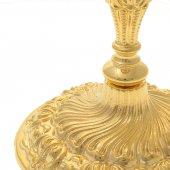 Immagine di 'Calice dorato con base decorata stile rococò - altezza 23,5 cm'
