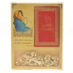 """Copertina di 'Confezione """"Il Santo Rosario"""" con coroncina in perla e libricino'"""