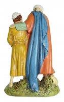 Immagine di 'Uomo e bambino con colomba Linea Martino Landi - presepe da 12 cm'