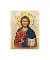 """Quadro in legno e tela """"Gesù Maestro"""" - dimensioni 26x18 cm"""