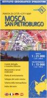 Mosca 1:21 000San Pietroburgo 1:15 000. Ediz. multilingue