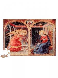 """Copertina di 'Puzzle """"Annunciazione Beato Angelico"""" (48 pezzi)'"""