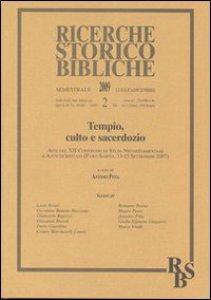 Copertina di 'Tempio, culto e sacerdozio'