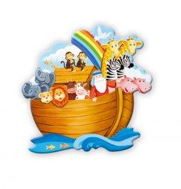 Copertina di 'Calamita Arca di Noè con personaggi in rilievo'