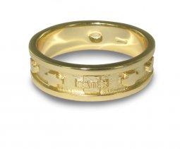 Copertina di 'Fedina rosario argento con bagno oro giallo con crocette mm 19'