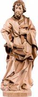 Statua di San Giuseppe artigiano in legno, 3 toni di marrone, linea da 25 cm - Demetz Deur