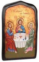 """Icona in legno """"Discepoli di Emmaus"""" - dimensioni 43x27 cm"""