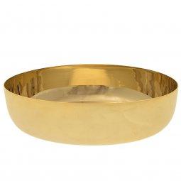 Copertina di 'Patena in ottone dorato a forma di ciotola - diametro 12 cm'