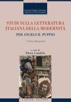 Studi sulla letteratura italiana della modernità - Elena Candela
