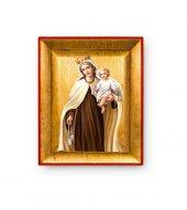 """Quadretto in foglia d'oro """"Madonna del Carmine"""" - dimensioni 8x6,5 cm"""