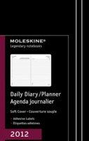 Agenda giornaliera 12 mesi 2012 - copertina morbida - nero - tascabile