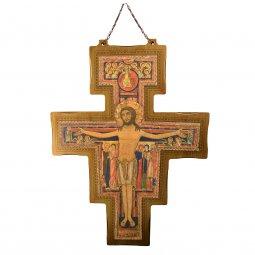 Copertina di 'Croce di San Damiano in legno da appendere - dimensioni 114x83 cm'