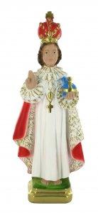 Copertina di 'Statua Gesù Bambino di Praga in gesso dipinta a mano - 30 cm'