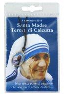 Medaglia resinata Santa Madre Teresa di Calcutta con preghiera