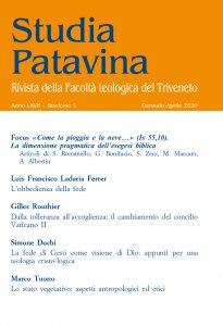 Copertina di 'Studia Patavina 2020/1'