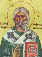 Immagine di 'Icona Saint Patrick / San Patrizio, produzione greca su legno - 13,5 x 11 cm'