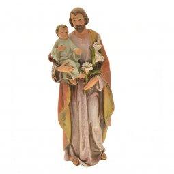 """Copertina di 'Statua in pasta di legno """"San Giuseppe con Bambino"""" - altezza 15 cm'"""