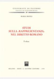 Copertina di 'Studi sulla «rappresentanza» nel diritto romano'