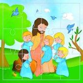 """Mini puzzle """"Lasciate che i bambini vengano a me"""" (12 pezzi)"""