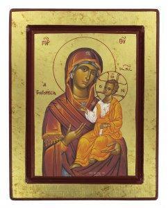 Copertina di 'Icona Madonna con il Bambino, produzione greca su legno - 25 x 19,5 cm'