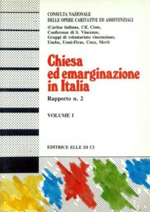 Chiesa ed emarginazione in italia seconda indagine for Servizi socio assistenziali