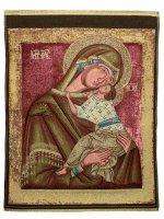 """Arazzo """"Madonna della Tenerezza"""" (47cm x 35cm)"""
