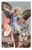Card San Michele Arcangelo in PVC - misura 5,5 x 8,5 cm - italiano