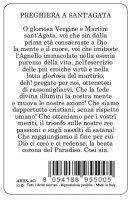 Immagine di 'Card Sant Agata della guarigione in PVC - 5,5 x 8,5 cm - italiano'