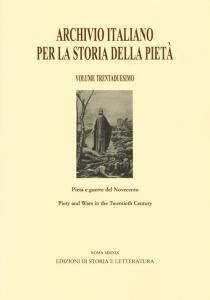 Copertina di 'Archivio italiano per la storia della pietà. Ediz. italiana, inglese, francese e spagnola vol.32'