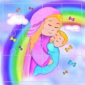"""Mini puzzle """"Maria e il Bambino"""" (12 pezzi)"""