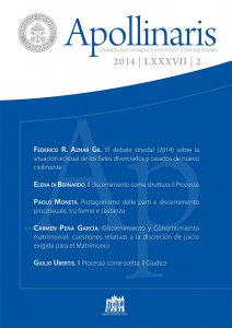 Copertina di 'Discernimiento y Consentimiento matrimonial: cuestiones relativas a la discreción de juicio exigida para el Matrimonio'