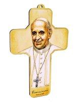 Croce in oro caldo con disegno di Papa Francesco di  su LibreriadelSanto.it