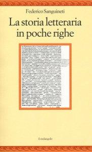 Copertina di 'La storia letteraria in poche righe'