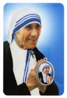 Card Madre Teresa di Calcutta in PVC - 5,5 x 8,5 cm - italiano
