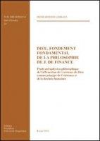 Dieu, fondement fondamental de la philosophie de J. De Finance - Bosomi Limbaya Denis