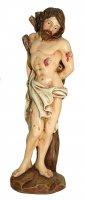 Statua di San Sebastiano da 12 cm in confezione regalo con segnalibro in IT/EN/ES/FR