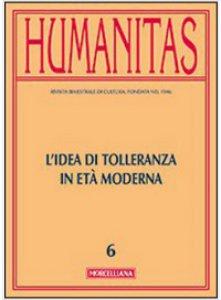 Copertina di 'Humanitas. 6/2014: Idea di tolleranza in età moderna. (L')'