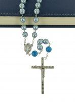 Immagine di 'Rosario imitazione perla vetro azzurro Pater p. dura'