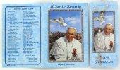 Libretto Rosario con immagine di papa Francesco e coroncina