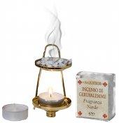 Immagine di 'Confezione brucia incenso alla fragranza di nardo con candele'
