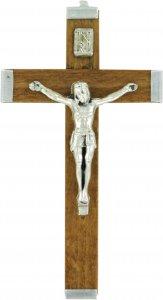 Copertina di 'Croce in legno naturale con retro in metallo - 5,5 cm'