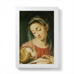 """Copertina di 'Quadretto """"Madonna della Provvidenza"""" con cornice minimal - dimensioni 15x10 cm'"""