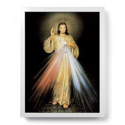 """Copertina di 'Quadro """"Gesù Misericordioso"""" con lamina oro e cornice minimal'"""